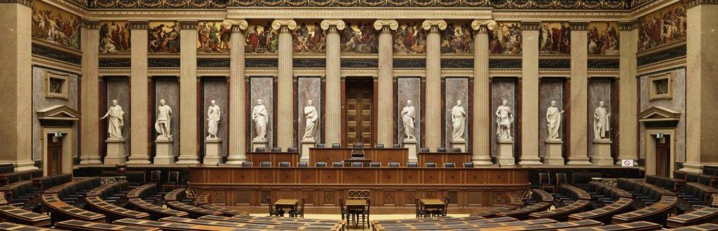 Historischer Sitzungssaal - Foto: Parlamentsdirektion / Mike Ranz